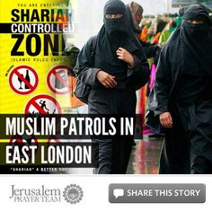 Muslim Patrols in East London    For more on this story, or to see our sources, visit: http://articles.jerusalemprayerteam.org/muslim-patrols-in-east-london/    LIKE and SHARE this story to encourage others to defend the Jewish people and pray for peace in Jerusalem, and leave your PRAYERS and COMMENTS below.    To help the Jerusalem Prayer Team with a generous gift, go here: http://jerusalemprayerteam.org/email/2013/0210-2-fb.htm
