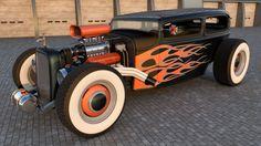 Hot Print Rat Rod Art | ford rat rod by samcurry digital art 3 dimensional art vehicles ...