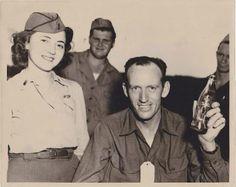 Flight Nurse and flight crew enjoying a Coca-Cola! ~