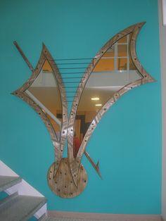 Χειροποίητη δημιουργία μου σε ξύλο-υπάρχει δυνατότητα διαφοροποιήσεων. Opera House, Mirror, Building, Decor, Decoration, Mirrors, Buildings, Decorating, Construction