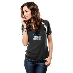 Women's Majestic Carolina Panthers Go For Two Tee $22.40