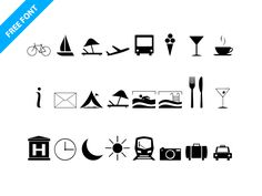 Travel Icons Font (download) by InRuntime (via Paulius Uza)