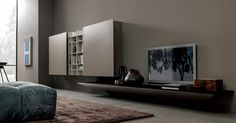 Minimal and extremely elegant design. A glimpse of our new MD Home living design program BLADE. DESIGN WEEK 12 / 17 Aprile 2016 Milano, C.so Garibaldi 99 - Moscova subway station www. Tv Wall Design, House Design, Living Room Designs, Living Spaces, Big Doors, Home Decor Kitchen, Contemporary Furniture, Modern Contemporary, Furniture Making