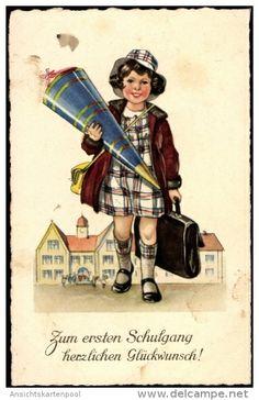 Postcards > Topics > Holidays & Celebrations > Children's school start - Delcampe.net