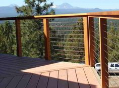 Deck, patio, porch, balcony cable railing - Modern - Deck - by ...