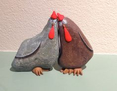 ASS KICKEN CHICKEN. Painted Rock Painted Stone by qvistdesign