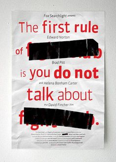 the first rule of f*******b is you don't talk about f*******b