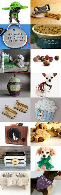 Christmas for Fido! Etsy Treasury -- Pinned with TreasuryPin.com #dog #gifts #christmas #etsy