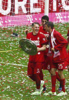Bastian Schweinsteiger, Javi Martinez and Thomas Müller