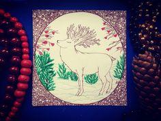"""New Year Gift card """"Deer"""" новенькая нарисованная открытка НОВОГОДНИЕ ОТКРЫТКИ!!!❄️ обращайтесь, заказывайте!!! РИСУНКИ НА ЗАКАЗ, эскизы, иллюстрации,открытки, приглашения, визитки, постеры, роспись стен и многое другое) ЖДУ ВАШИХ ПРЕДЛОЖЕНИЙ!!!"""