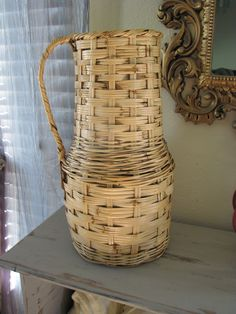 Large Rattan Vase Pitcher. $25.00, via Etsy.