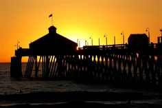 Sunset at Imperial Beach California