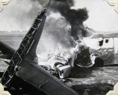 World War Two, United States Army Air Force (U.S.A.A.F.), 5th Photo Reconnaissance Group, P-38 crash, San Severo Airport, Italy, July, 1944