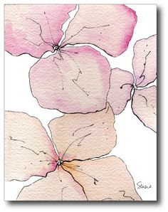 Watercolor Floral Note Card | SooBoo - Cards on ArtFire