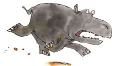 The Enormous Crocodile: This is an enormous and greedy crocodile that lives in the biggest, brownest and muddiest river in Africa. He loves to eat children. The Enormous Crocodile has a nasty. Roald Dahl Characters, Roald Dahl Books, The Enormous Crocodile, Quentin Blake Illustrations, Funny Poses, Curious Creatures, Matilda, Design Your Own, Childrens Books