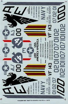 Super Scale Réf 32-45 - F-14A - VF-41, VF-143 Sukhoi killers - USS Nimitz  USS America - 1981 Mediterranean cruise http://maquettes-avions.hautetfort.com/archive/2013/12/30/decals-super-scale-1-32e.html