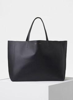 e793893b9581 Horizontal Cabas Bag in Smooth Lambskin - Céline