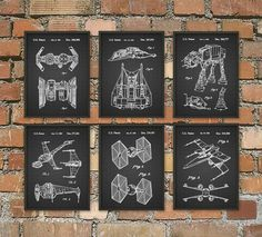 Star Wars Patent Prints Tie Fighter Tie Bomber by QuantumPrints