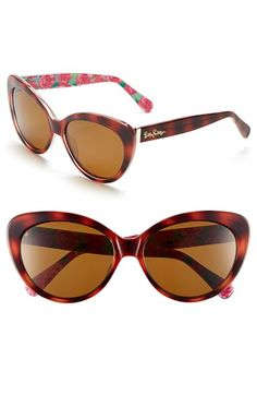 d6efcf2aed Free shipping and returns on Lilly Pulitzer®  Janice  58mm Polarized  Sunglasses at Nordstrom