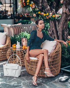 Cute polka dot romper by Self Portrait. Paired it with white accessories - Bottega Veneta handbag and white strappy sandals Summer Wedding Outfits, Summer Outfits, Summer 2016 Trends, Edgy Hipster, Mini Skirt Style, Marianna Hewitt, Viva Luxury, Brunch Outfit, Maxi Styles