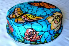 Stained glass cake by flickr gingr, via Flickr