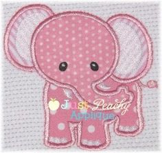 Elephant 2 for baby or zoo or circus Machine Embroidery Applique Designs Plus 1 Free Design of Your Choice NEW Instant Downloads