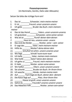 German Grammar, German Words, Dativ Oder Akkusativ, German Language Learning, Worksheets, Psychology, Germany, Lettering, Teaching