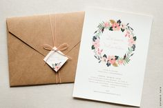 Wedding invitations envelopes diy simple Super ideas Best Picture For invitation envelope ideas Invitation Floral, Wedding Invitation Envelopes, Country Wedding Invitations, Rustic Invitations, Wedding Stationery, Invites, Simple Wedding Cards, Diy Wedding, Trendy Wedding