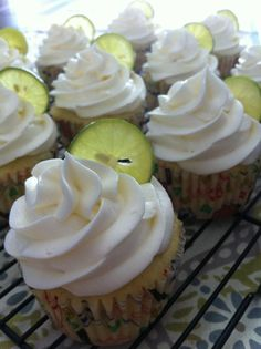 Margarita cupcakes for the World Cup!