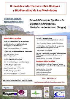 II Jornadas sobre Bosques y Biodiversidad de Las Merindades  27-28 octubre