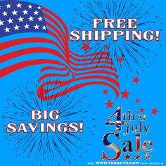 Two more days of big SAVINGS! Ends 7/4/2017 at Midnight!  See http://ss1.us/a/oKqQv0jm for details!  #Teskeys #FreeShipping #redwhiteandblue
