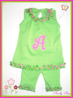 How about some pink/green ruffles?