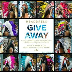 Our 3rd headdress giveaway is underway!!! It's Bigger and Better than ever!!! 2 lucky followers will have their choice of ANY 1 headdress from our store! To enter, 1. Follow and tag @aureusarts 2. Repost the image posted at the start of the giveaway 3.use the hashtag #aureusartgives3. Please remember the max entries per person is 1. Multiple posts will be discounted. Good luck everyone!!!