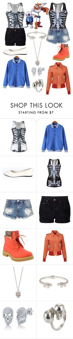 """Undertale Sans and Papyrus"" by winter-blaze-1 ❤ liked on Polyvore featuring moda, Chicnova Fashion, Boohoo, One Teaspoon, NSF, Rachel Zoe, Alexander McQueen y BERRICLE"