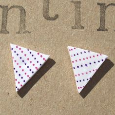 Bunting Earrings £5.00 available from my Folksy Jewellery shop