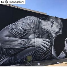 Big shout out to @owendippie  for this insane tribute mural for Chester on Fairfax + @knowngallery for helping make it happen ❤️ ・・・  #repost  Chester Bennington.. you're missed and loved dearly... @chesterbe @owendippie @erindippie @linkinpark @mrjoehahn @m_shinoda @theseventhletter #ChesterBennington #LinkinPark #OwenDippie #TheSeventhLetter #TWFSL #Fairfax