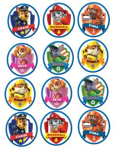 Paw Patrol Edible Cookie/Cupcake toppers by on Etsy Paw Patrol Cupcake Toppers, Paw Patrol Cupcakes, Paw Patrol Birthday Cake, Paw Patrol Cake, Paw Patrol Party, Imprimibles Paw Patrol, Paw Patrol Stickers, 3rd Birthday, Birthday Parties
