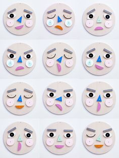 Make A Face! Turn & flip the wooden face pieces to express your emotion! A wonderful way to learn about & discuss emotions together.