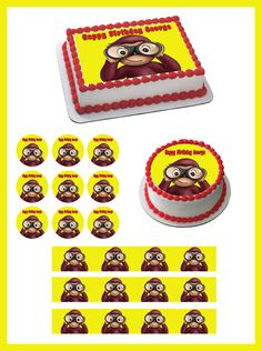 Curious George 2 Edible Birthday Cake Topper OR Cupcake Topper, Decor #BirthdayChild