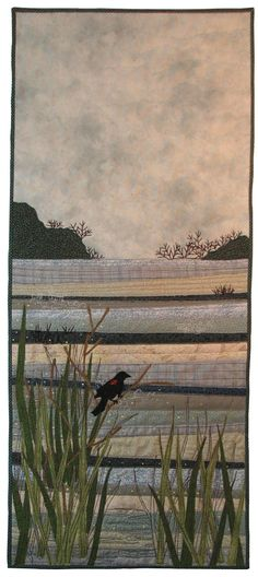 """Water 2012  15"""" x 45"""" Terry Grant I would love to get to the skill level to do an art quilt"""