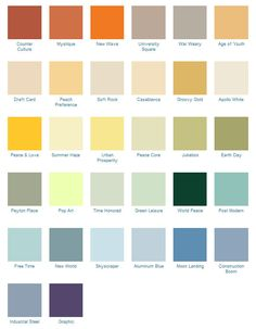 70s Post-modern color collection - California Paints i need to paint my house orange