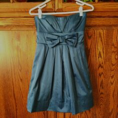 "Strapless Mini Royal blue with nice bow in front. Great ""Date Night"" dress. Worn twice. Dresses Mini"