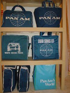 Pan Am Flight Bags #aviationglamourpanam