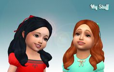 Mystufforigin: Sweet Curls for Toddlers - Sims 4 Hairs - http://sims4hairs.com/mystufforigin-sweet-curls-for-toddlers/