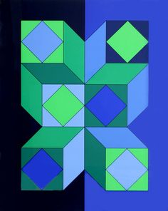 by Victor Vasarely - 1973 - Limited Edition Print - Serigraph Victor Vasarely at great prices - Buy and sell your artworks on kunzt. Victor Vasarely, Geometric Quilt, Geometric Art, Art Abstrait, Art Moderne, Op Art, Oeuvre D'art, Artist Art, Quilting Designs