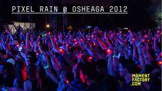 "Pixels Rain at Osheaga 2012 by Moment Factory. During Black Keys ""Everlasting Light"""
