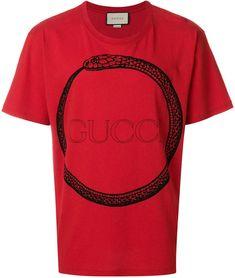 f43a540b Gucci Ouroboros print T-shirt #Gucci #shirt #ShopStyle #MyShopStyle click  link