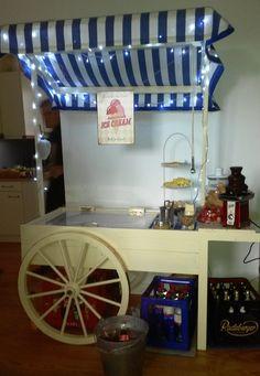 Pauls Eiswagen in Blau und weiß - Ihr Candywagen für Ihre Hochzeit