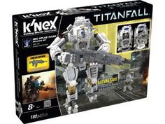 """Prepare for Titanfall™ - call down your Titan to secure your pilot and prepare for battle! Build the Atlas Titan from the IMC Faction complete with a working rocket launcher and exclusive decals. Once built Atlas stands over 10"""" high and includes one Pilot figure that works with the Titan. Be prepared for combat with this Titanfall™ building set! Over 160+ pieces. Ages 8+"""