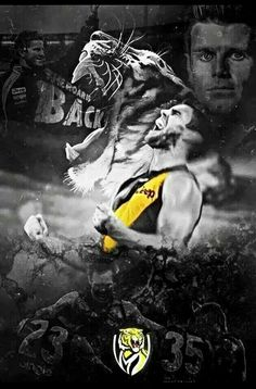Richmond football club Richmond Afl, Richmond Football Club, World Of Sports, Dallas, Batman, Superhero, Sign Writing, Adobe Photoshop, Tigers